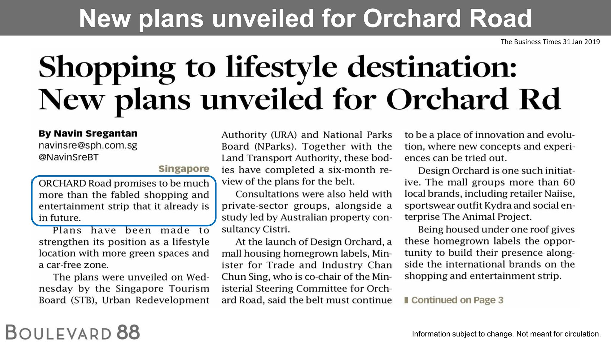 Shopping to lifestyle destination: New plans unveiled for Orchard Rd