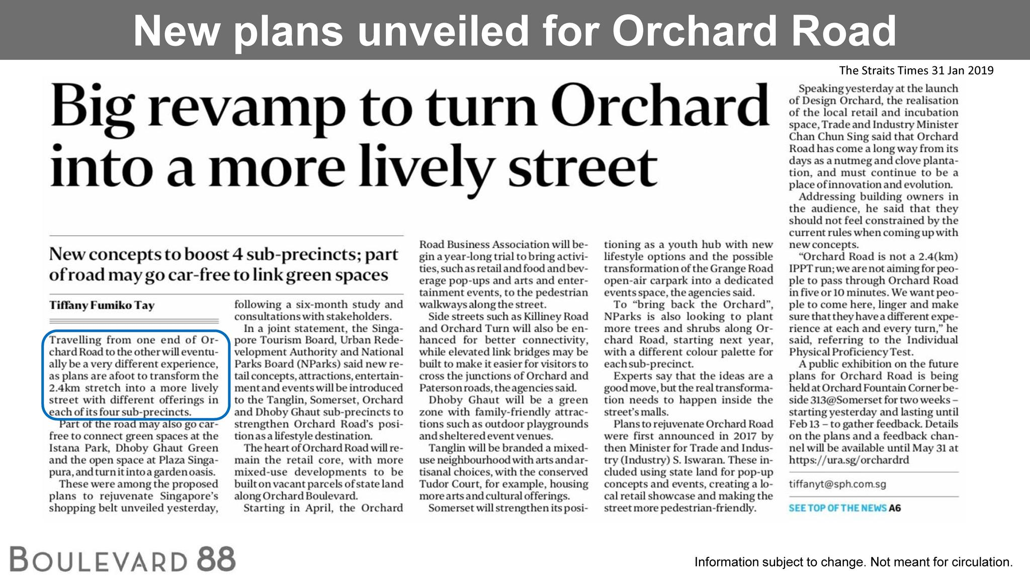 Big revamp to turn Orchard into a more lively street